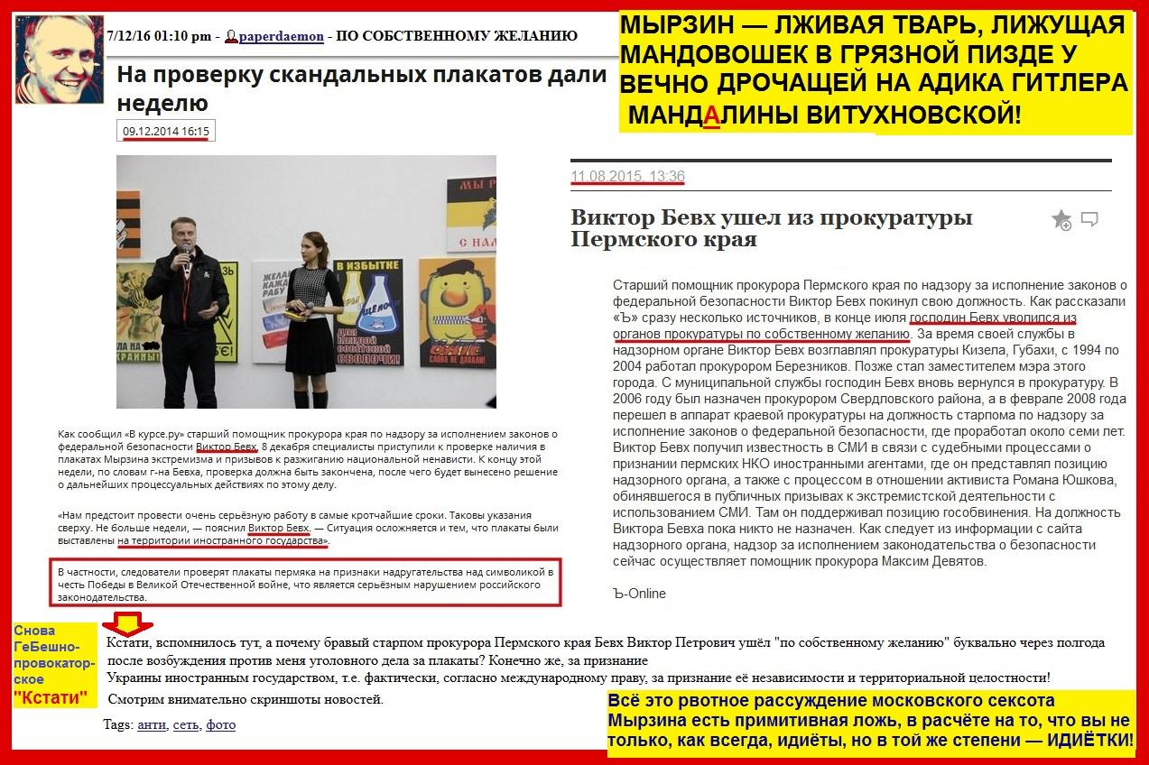 Мырзин, прокуратура, ложь, Хинштейн, плакаты, Пермь