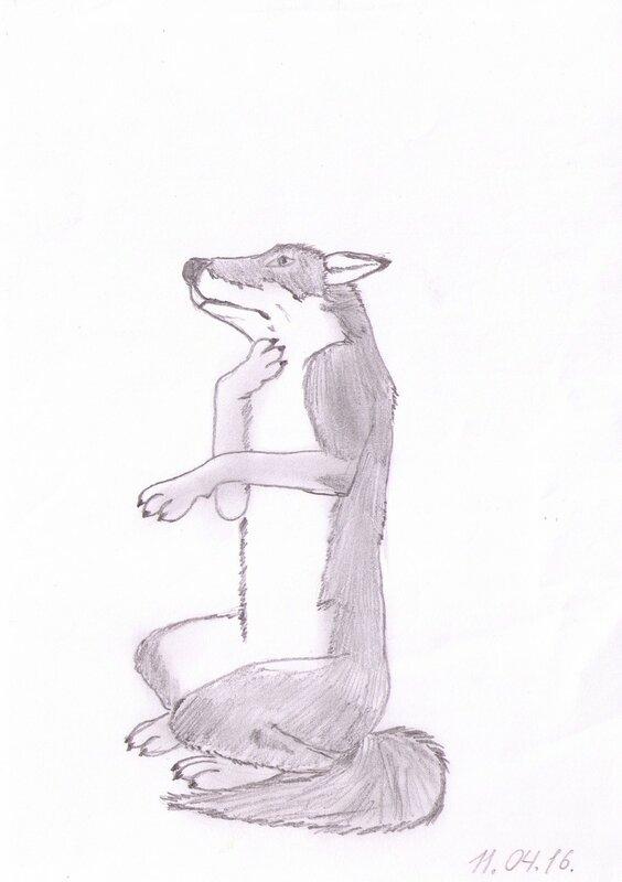 волк и журавль рисунок для картин фото