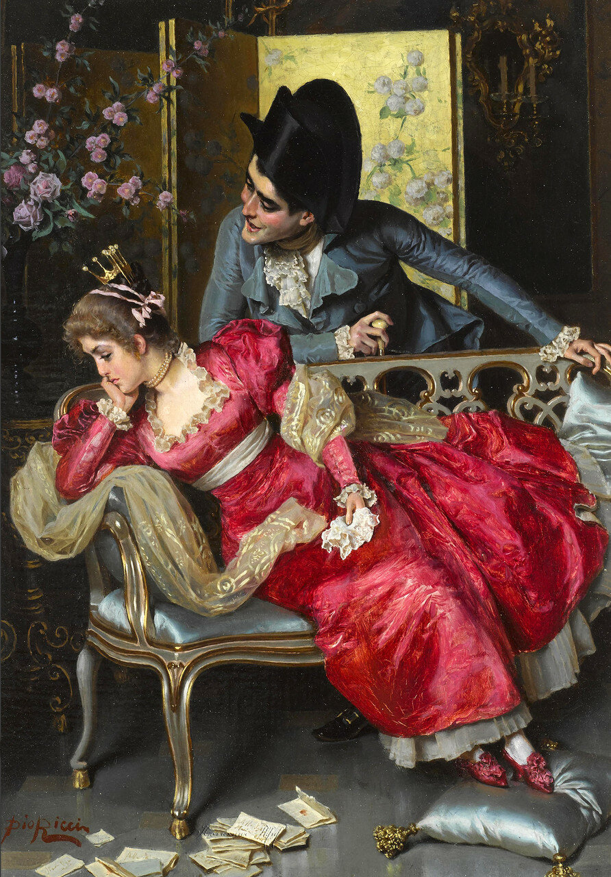 Pio Ricci (Italian, 1850-1919)A lovers' quarrel.jpg