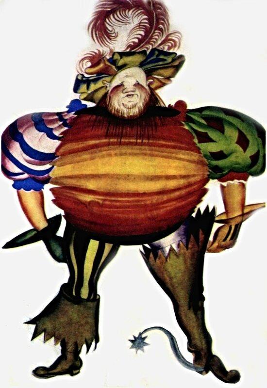 Н.П. Акимов. Эскиз костюма. Фальстаф. 1925.jpg
