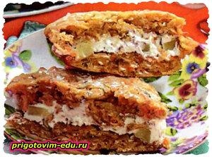 Морковное печенье с творожной начинкой