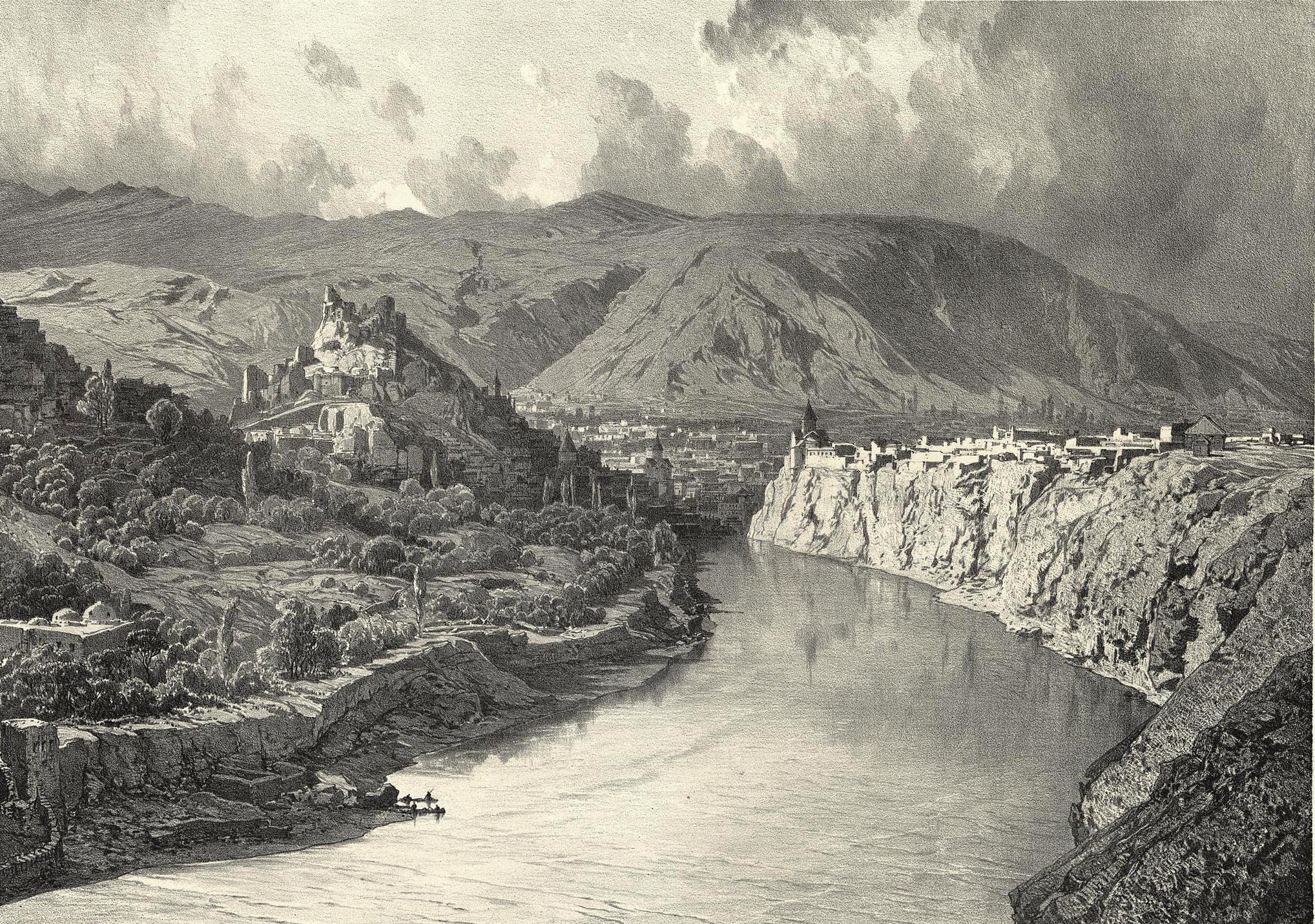 24. Georgie. Tiflis, vue generale / Грузия. Тифлис, общий вид