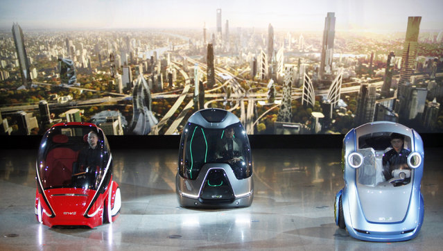 """EN-V, or """"Electric Networked-Vehicle"""", General Motors and its China joint venture partner SAIC Motor"""