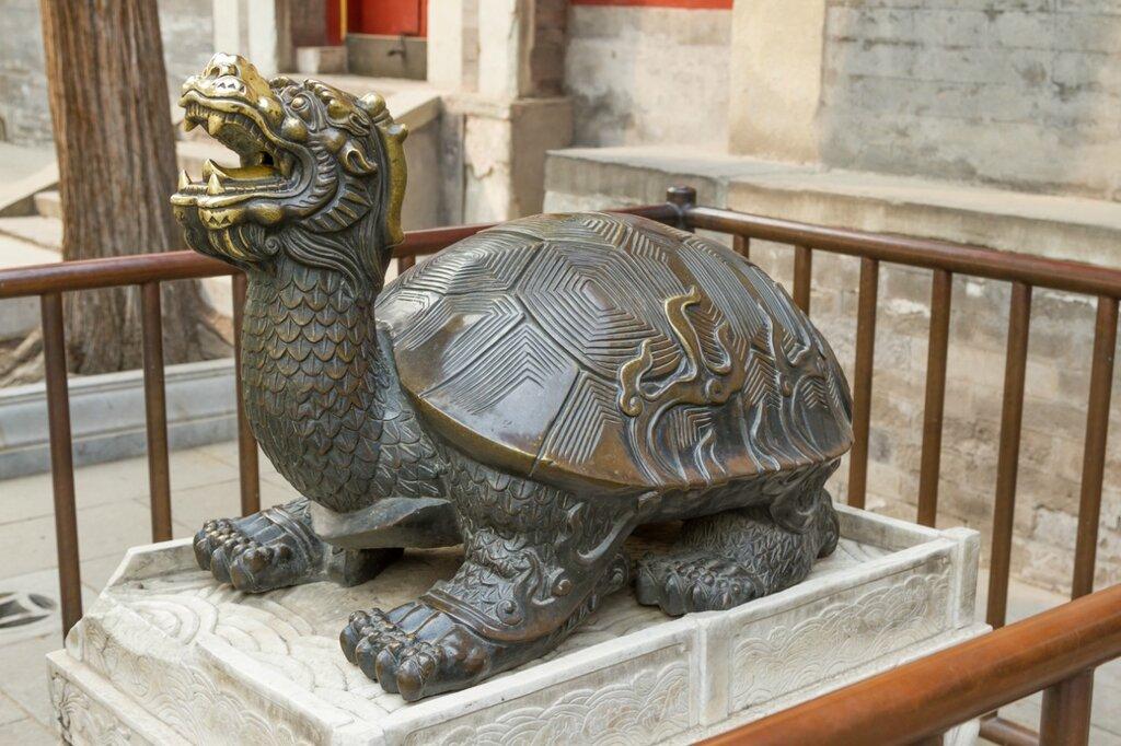 Черепаха, парк Бэйхай, Пекин