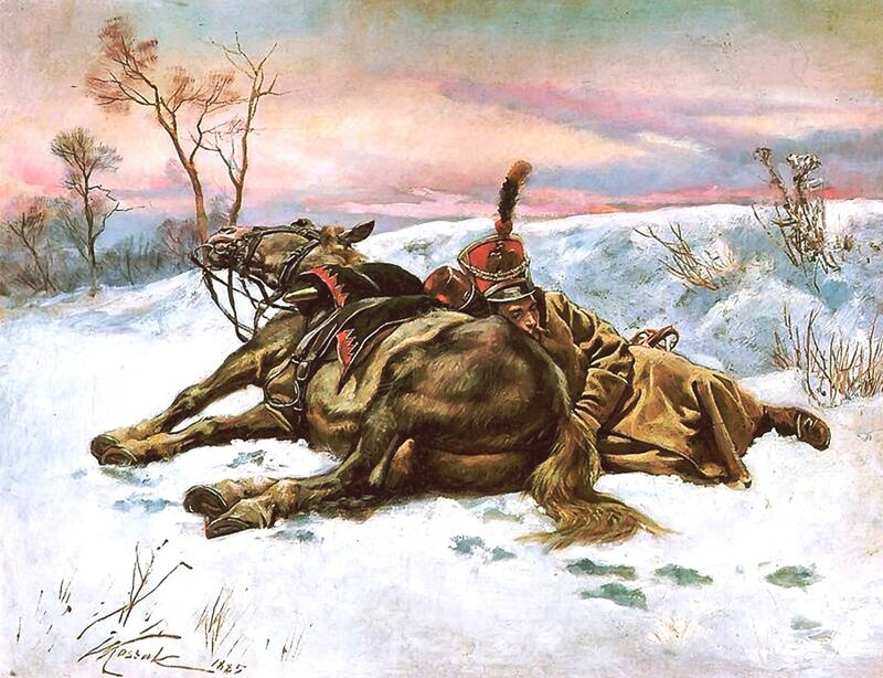 Войцек KOССAК. Гусар на снегу.jpg