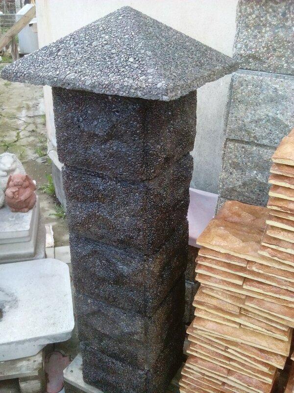 Блок офактуренный камнем. Размер 300 х 300 х 300 мм
