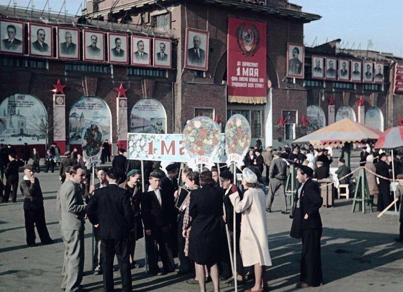 1948 1 мая Демонстрация Пролетарского района. Владислав Микоша10.jpg