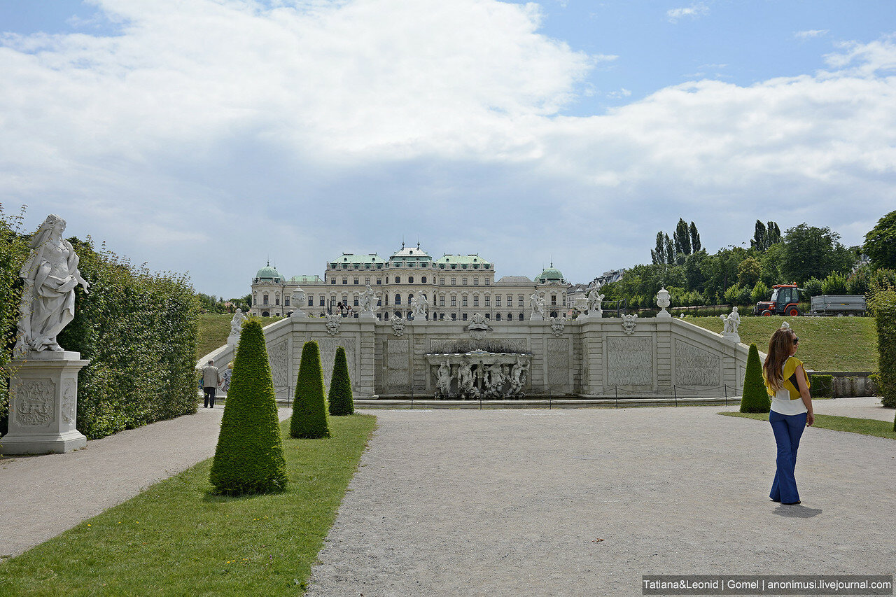 Дворцовый комплекс Бельведер. Вена