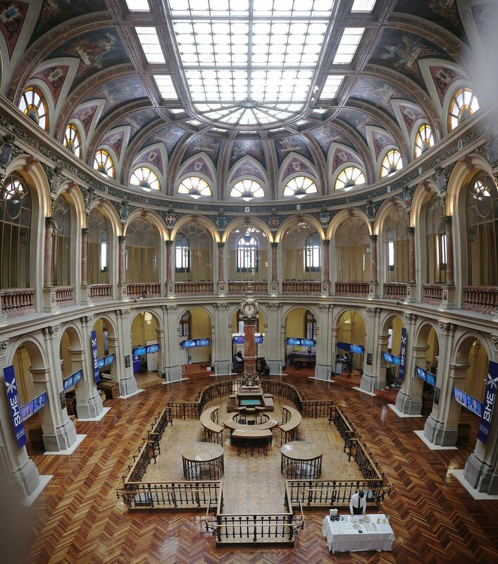 Madrid Stock Exchange Palace (Bolsa de Madrid), interiors