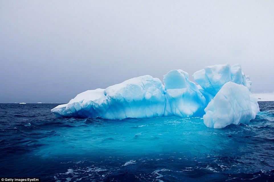 Пингвины на айсберге в море Уэдделла.