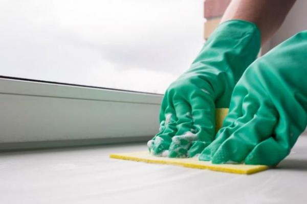 Удобная мочалка 2 в 1, которая подходит не только для очищения подоконника: просто оберни хозяйствен