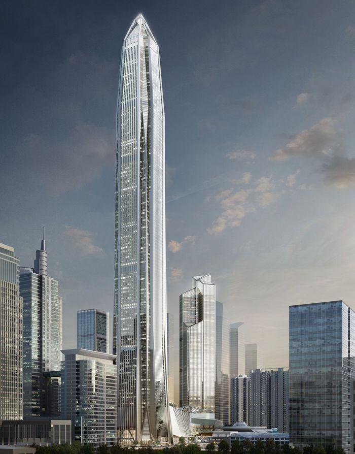 1. Ping An Finance Center (высота 599 метров) Уже в этом году Международный финансовый центр Пинань