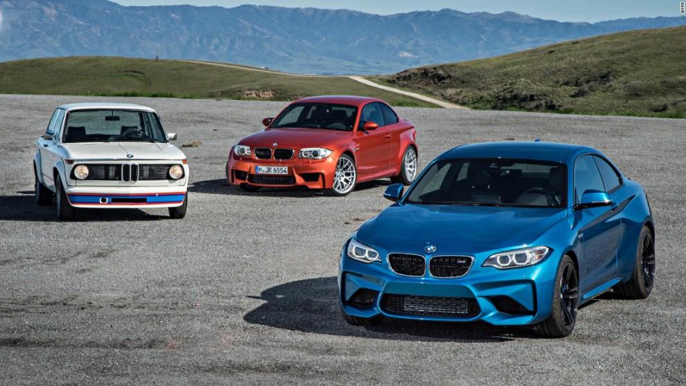 Высокоэффективный BMW M2, представленный в этом году и вдохновленный традициями производствами спорт
