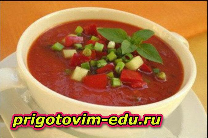Необычный Суп из арбуза с огурцом