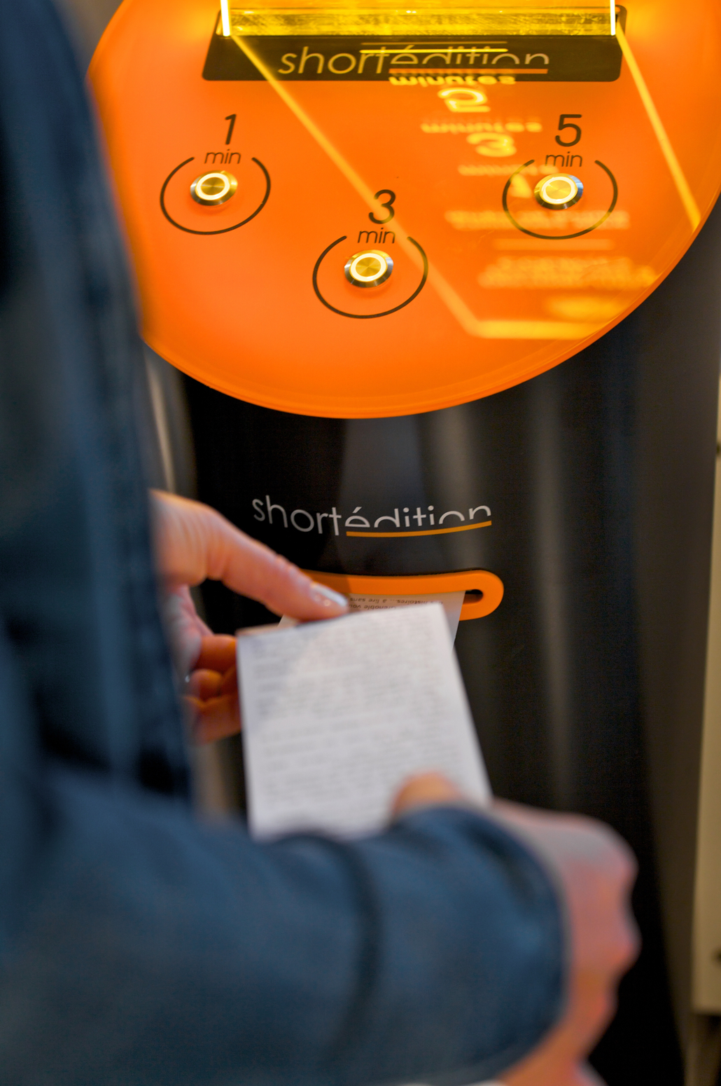 Short Edition: A Short Story Vending Machine that Prints Free Stories On-Demand