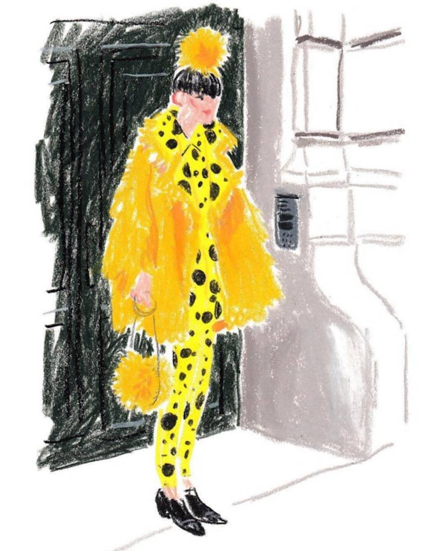 Nice Crayon Editorial Drawings by Damien Cuypers
