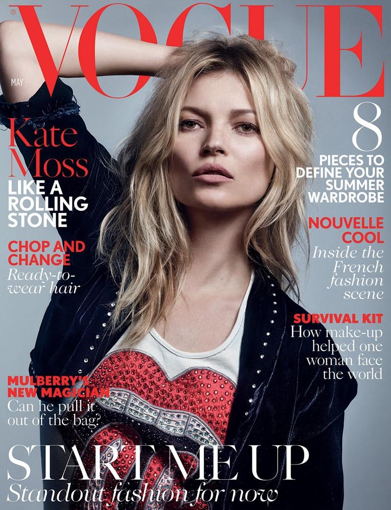 Кейт Мосс Vogue UK (май 2016) фото 1