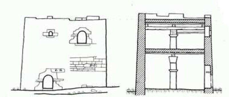 Жилая башня у селения Верхний Кокадой (Э. П. Химин)