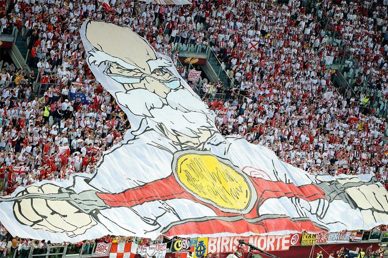 Soccer tifos / Гигантские баннеры футбольных болельщиков со со стадионов по всему миру - Sevilla