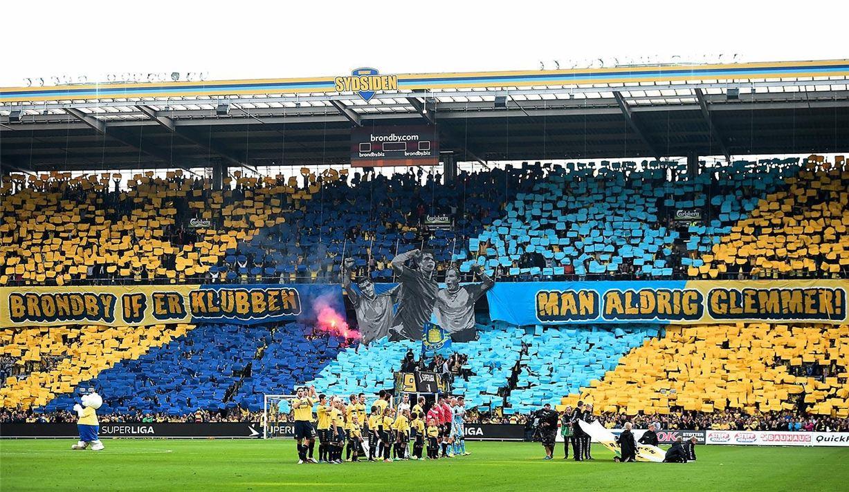 Soccer tifos / Гигантские баннеры футбольных болельщиков со со стадионов по всему миру - Brondby
