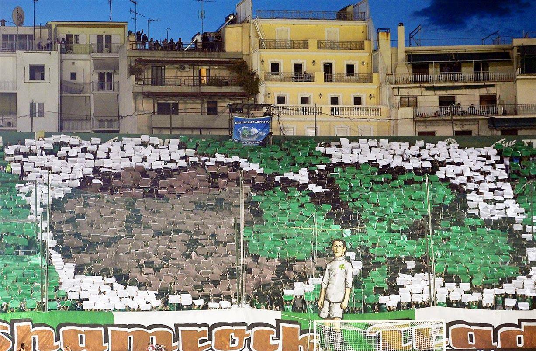 Soccer tifos / Гигантские баннеры футбольных болельщиков со со стадионов по всему миру - Panathinaikos