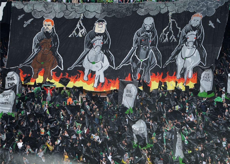 Soccer tifos / Гигантские баннеры футбольных болельщиков со со стадионов по всему миру - Celtic