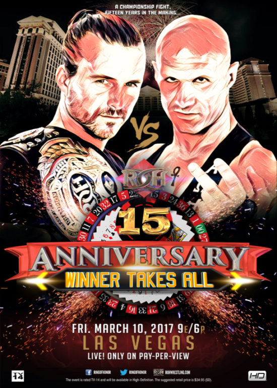 Post image of ROH 15th Anniversary Show
