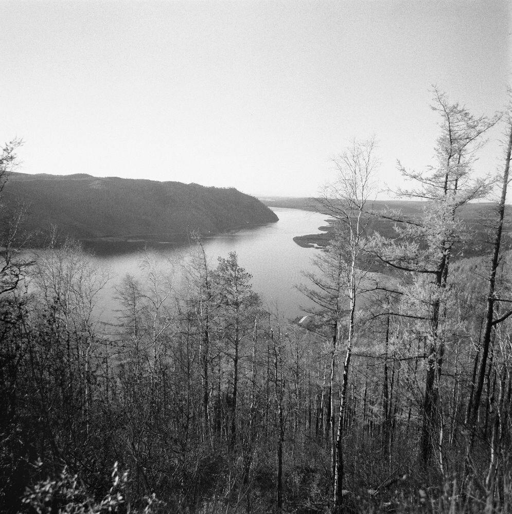 Вид Ангары неподалеку от озера Байкал