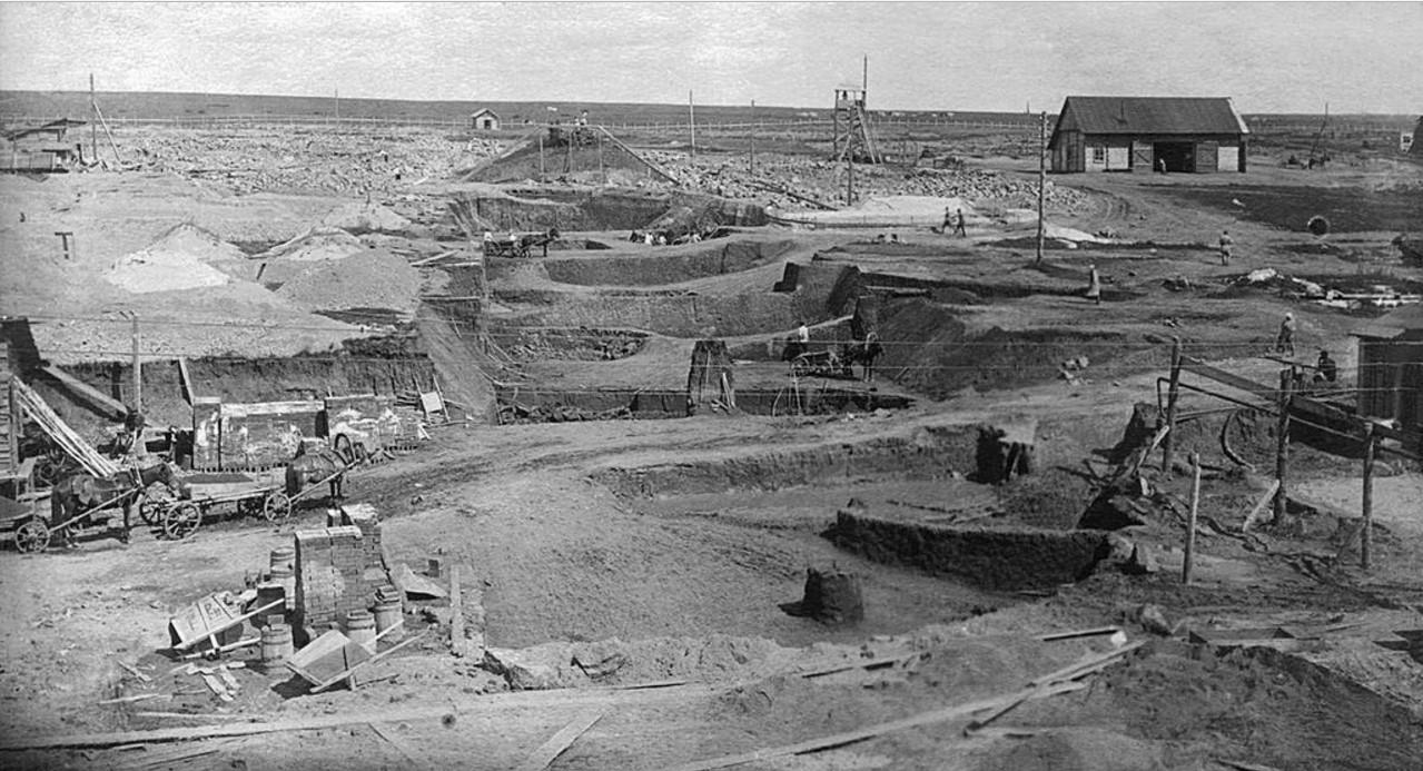 1927. Челябинск. Выемка грунта. ЧГРЭС