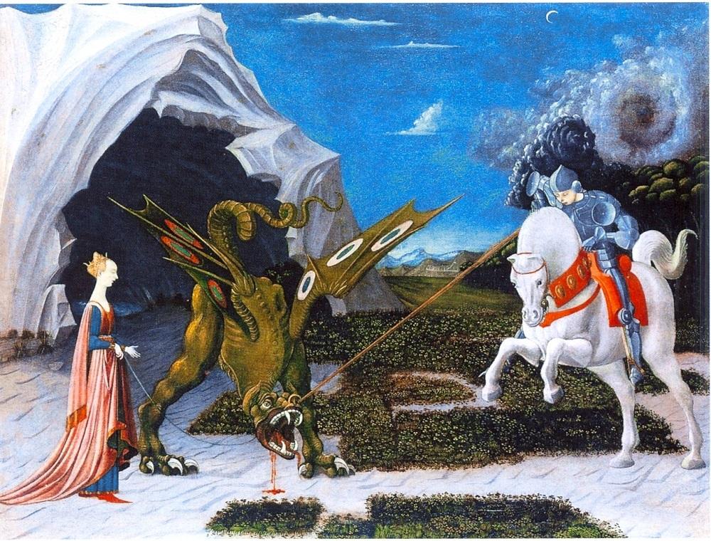 1560 Паоло Уччелло. Битва Св. Георгия с драконом (вариант 1560).jpg