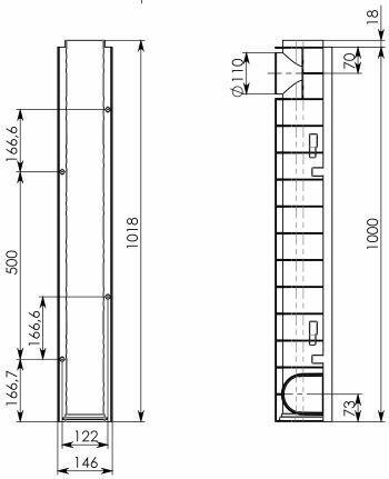 Лоток водоотводный Gidrolica Pro ЛВ-10.14,5.15,2 пластиковый