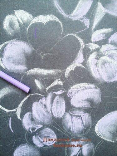 Рисунок пастелью Сирень