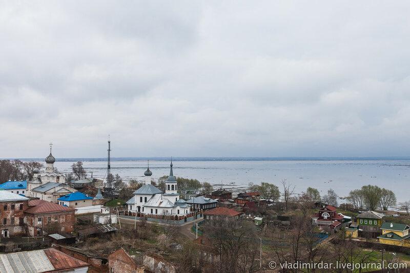 Богородице-Рождественский монастырь и Церковь Святого Николая. Озеро Неро. Ростов Великий.