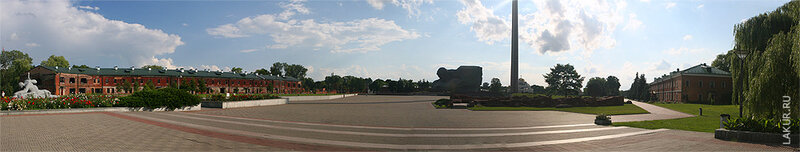 панорама центра Брестской крепости