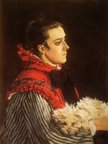 1866 Camille with a Small Dog