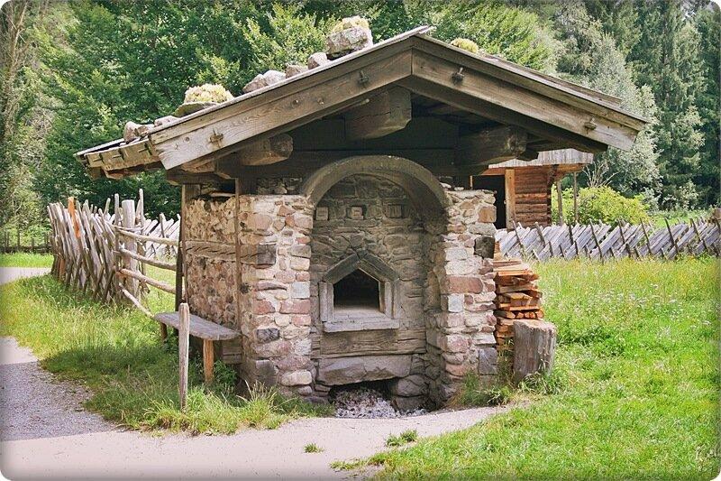 Печь из кирпича для выпечки хлеба на дровах 3