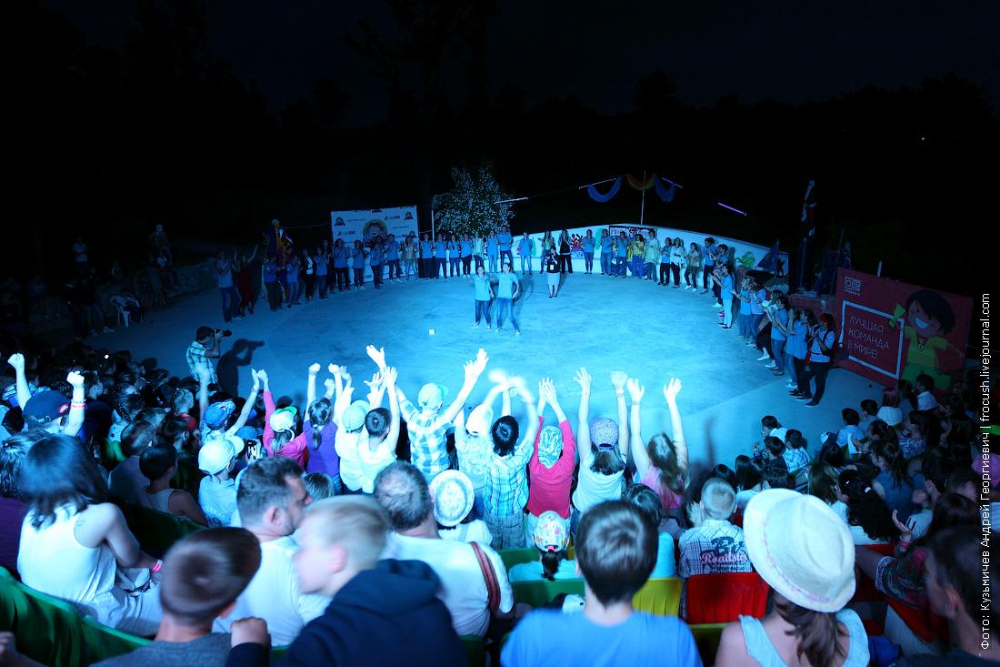 конец первой смены в лагере Мульт-фильм вожатский концерт Крым