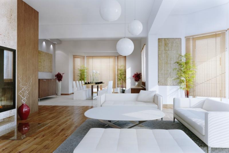 Белый цвет в интерьере гостиной, фото 14