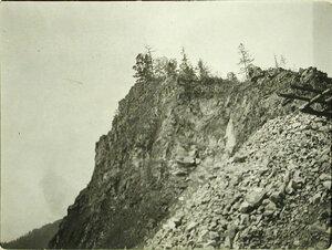 Вид местности у озера. Забайкальская обл. Маритуй ст.