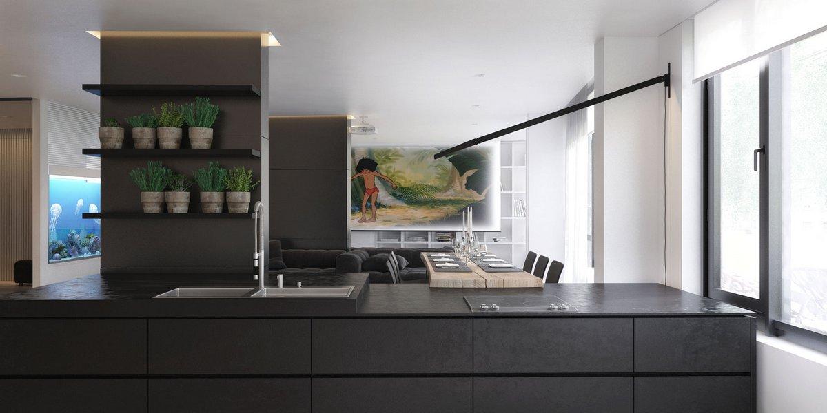 Igor Sirotov Architect, проект интерьера частного дома, дизайнерские проекты интерьера фото, визуализации дизайна интерьера, дизайнер Игорь Сиротов