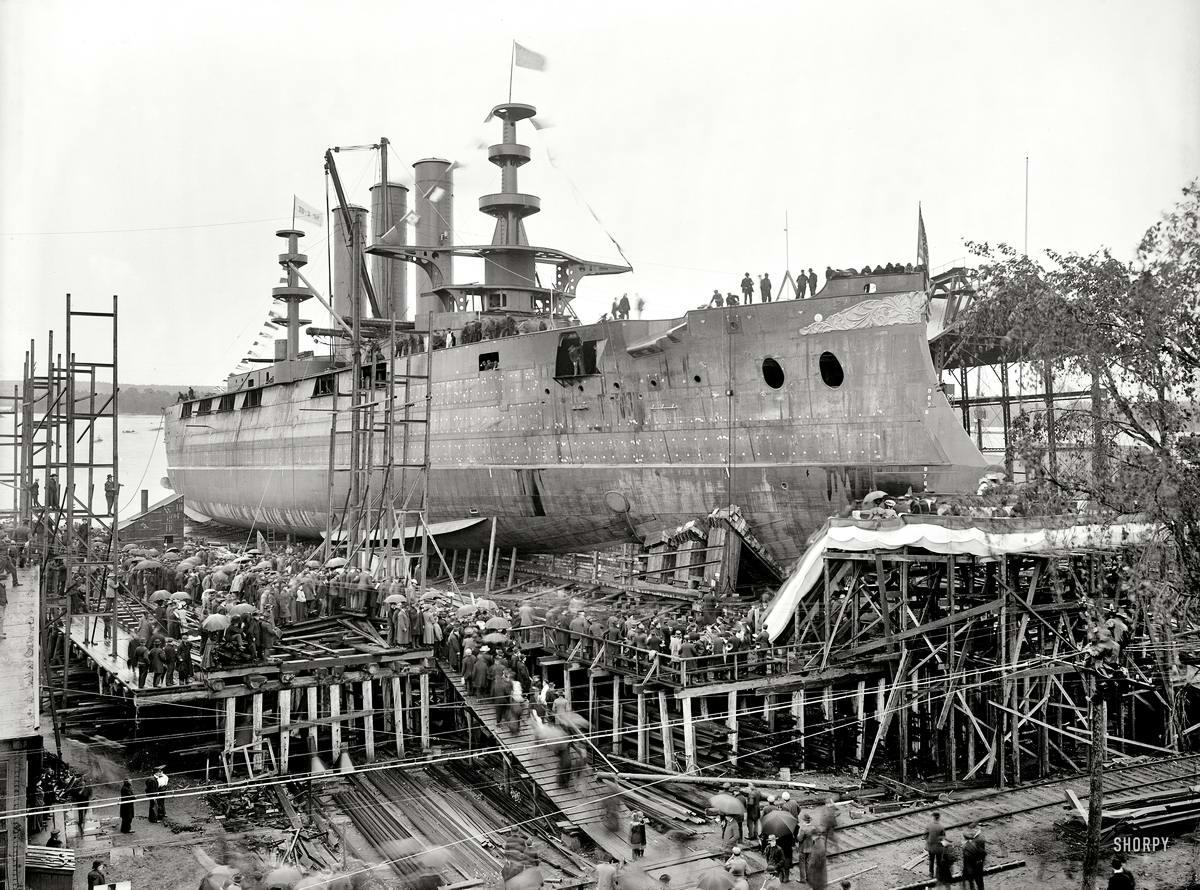 Корабли, парусники и речные суда на снимках американских фотографов начала 20 века (1904 - 1905 годы) (1)