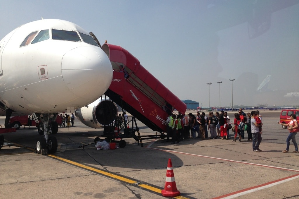 Самолет авиакомпании SpiceJet