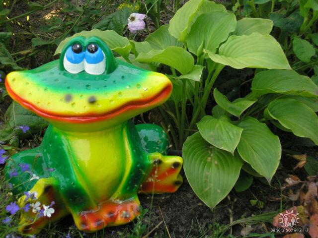 Лягушка садовая своими руками 38