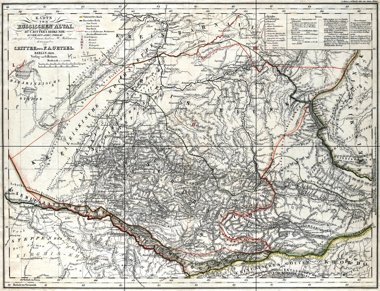 Карта бурлинской волости 1900г