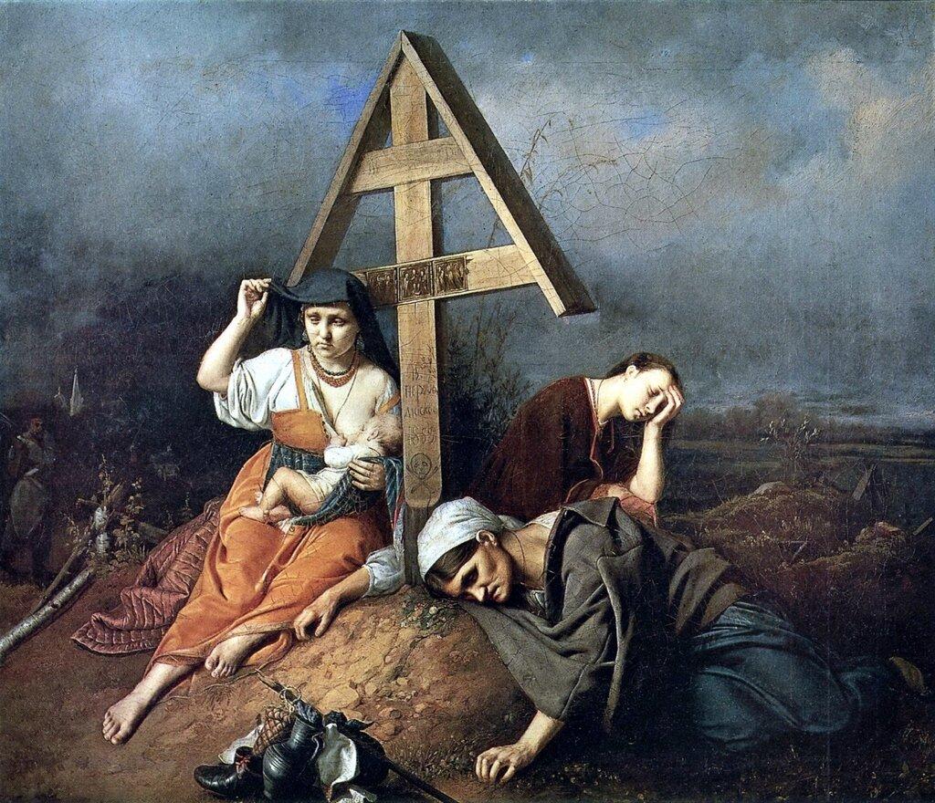 Василий Григорьевич Перов: Сцена на могиле. 1859 Х. , м. 58х69 ГТГ