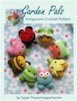 Журнал Garden Pals Amigurumi Crochet Pattern jpg 58Мб
