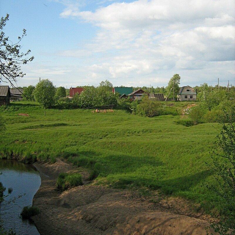 Пейзаж на берегу речки Пагинки