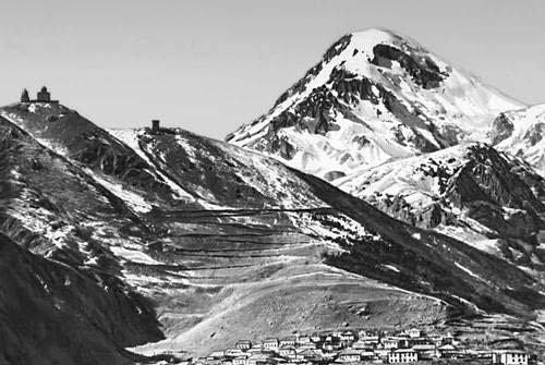 Грузия, Казбек и Гергетская церковь