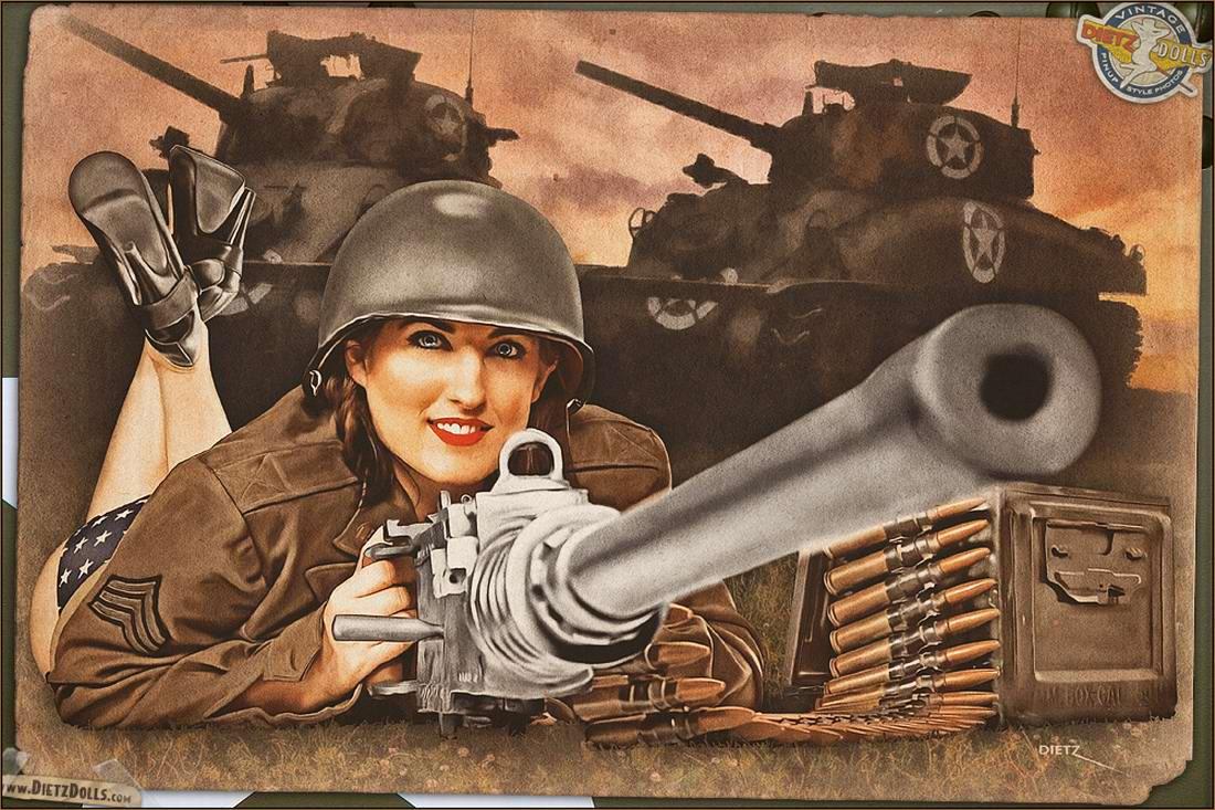 Армейский pin-up в стиле 1940-х годов от американского художника Britt Dietz (18)