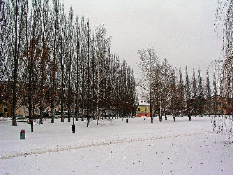 Фото города Мичуринска зима